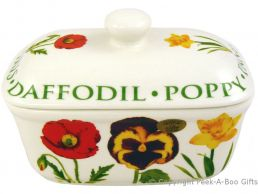 Leonardo Flower Garden Collection Fine China Butter Dish with Lid