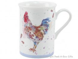 Leonardo Country Cockerel Fine China Slim Mug by Jennifer Rose