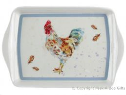 Leonardo Country Cockerel Collection Melamine Snack Tray by Jennifer Rose