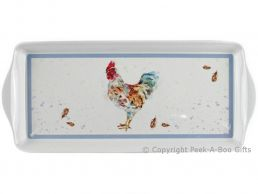 Leonardo Country Cockerel Collection Melamine Sandwich Tray by Jennifer Rose