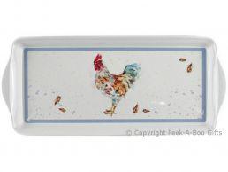 Leonardo Country Cockerel Collection Melamine Sandwich Tray by Jennifer Rose