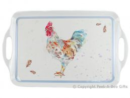 Leonardo Country Cockerel Collection Large Melamine Tray with Handles