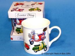 Classic Scooter Fine Bone China Boxed Mug by Leonardo