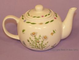 Leonardo Herb Garden Collection Fine China Traditional Teapot