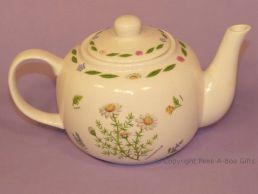 Leonardo Herb Garden Collection Fine China Traditional Teapot