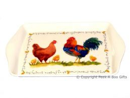 Leonardo Farmyard Collection Melamine Snack-Sandwich Tray Chicken