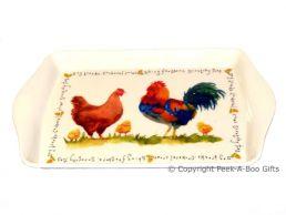 Leonardo Farmyard Collection Melamine Snack-Sandwich Tray Chicken