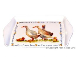 Leonardo Farmyard Collection Melamine Sandwich-Snack Tray Duck
