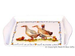 Leonardo Farmyard Collection Melamine Sandwich-Snack Tray Duck