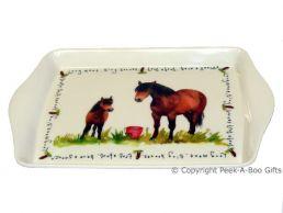 Leonardo Farmyard Collection Melamine Sandwich-Snack Tray Horse