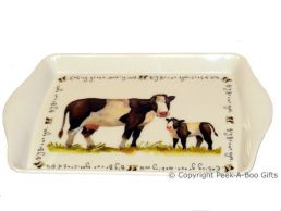 Leonardo Farmyard Collection Melamine Sandwich-Snack Tray Cow
