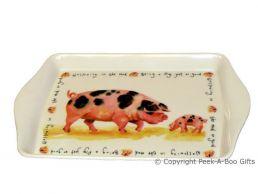 Leonardo Farmyard Collection Melamine Sandwich-Snack Tray Pig