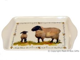 Leonardo Farmyard Collection Melamine Sandwich-Snack Tray Sheep