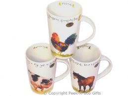 Leonardo Farmyard Collection China Tall Latte Mug Series 1