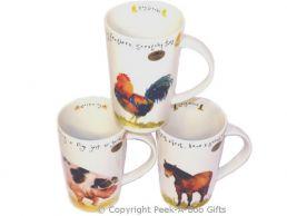 Leonardo Farmyard Collection China Tall Latte Mug Series 1