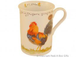 Leonardo Farmyard Collection Fine Bone China Slim Chicken Mug