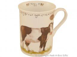 Leonardo Farmyard Collection Fine Bone China Slim Cow Mug