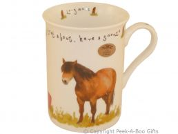 Leonardo Farmyard Collection Fine Bone China Slim Horse Mug
