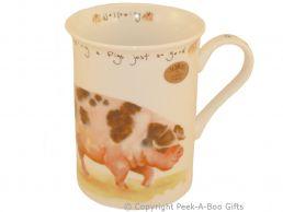Leonardo Farmyard Collection Fine Bone China Slim Pig Mug