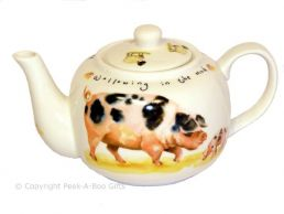 Leonardo Farmyard Collection Fine China Traditional Teapot Pig & Cow