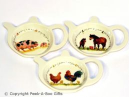 Leonardo Farmyard Collection Melamine Teabag Holder & Tidy Series 1