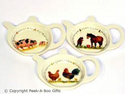 Leonardo Farmyard Collection Melamine Teabag Holder & Tidy Series 1