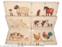 Leonardo Farmyard Collection Set of 6 Cork Backed Placemats