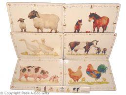 Leonardo Farmyard Collection Set of 6 Cork Backed Placemats