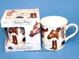 Classic Horse Riding China Boxed Mug by Leonardo
