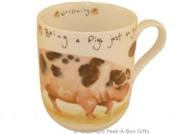 Leonardo Farmyard Collection Fine Bone China Royal Shaped Pig Mug