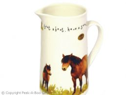 Leonardo Farmyard Collection Fine China Large Jug Horse Design