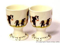 Leonardo Farmyard Collection Bone China Twin Eggcup Set Cow