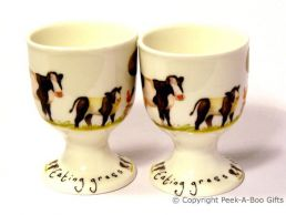 Leonardo Farmyard Collection Bone China Twin Eggcup Set Cow