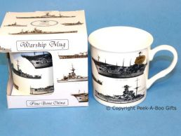 Classic WWII British Warship Bone China Boxed Mug by Leonardo