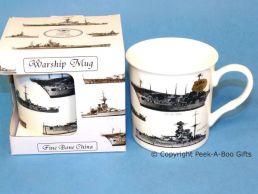 Classic WWII British Warship Bone China Boxed Mug by Leonardo