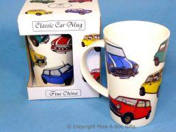 Classic Car British Mini Bone China Boxed Latte Mug by Leonardo