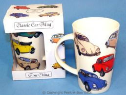 Classic VW Beetle Bone China Boxed Latte Mug by Leonardo
