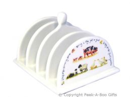 Leonardo Farmyard Collection Fine China Toast Rack Pigs-Sheep-Ducks
