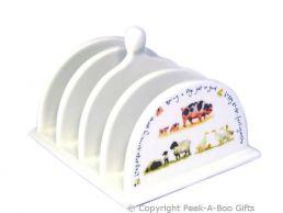 Leonardo Farmyard Collection Fine China Toast Rack Pigs-Sheep-Ducks
