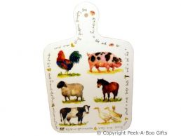 Leonardo Farmyard Collection Melamine Cutting Board with Handle