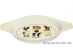 Leonardo Farmyard Collection Medium China Au Gratin Dish
