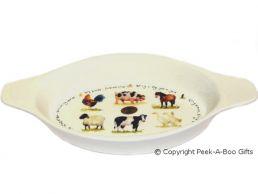 Leonardo Farmyard Collection Medium China Au Gratin Dish
