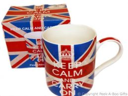 Keep Calm & Carry On Union Jack Fine Bone China Mug by Leonardo