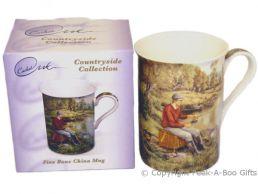 """Leonardo Countryside Collection """"A Days Fishing"""" Slim China Mug"""
