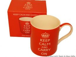 Keep Calm & Carry On Fine Bone China Mug by Leonardo