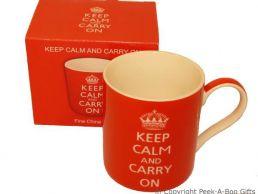 Keep Calm & Carry On Fine Bone China Mug by Leonardo