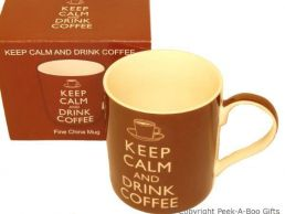Keep Calm (& Carry On) & Drink Coffee Fine Bone China Mug by Leonardo