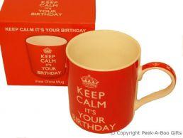Keep Calm (& Carry On) It's Your Birthday Fine Bone China Mug by Leonardo