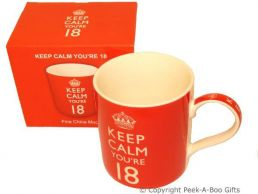 Keep Calm (& Carry On) You're 18 - 18th Birthday China Mug by Leonardo
