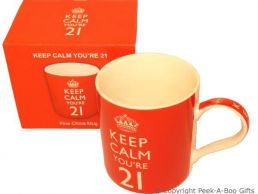 Keep Calm (& Carry On) You're 21 - 21st Birthday China Mug by Leonardo